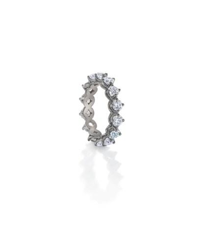 Namdar White Gold Cluster Ring