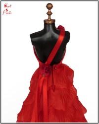 red rose petal dress cori paris handmade red rose petals ...