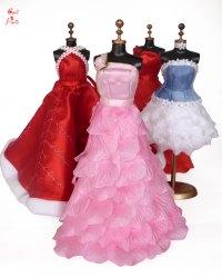 CORI PARIS - Handmade pink rose petals evening Barbie dress