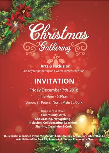 Invitation to Community Arts Christmas Gathering - Cork Healthy Cities