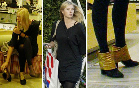 maria sharapova - shoe shopping - nov. 21, 2007