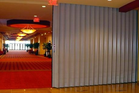 Acoustic Curtain Wall Tranzform Sound Accordion Partitions