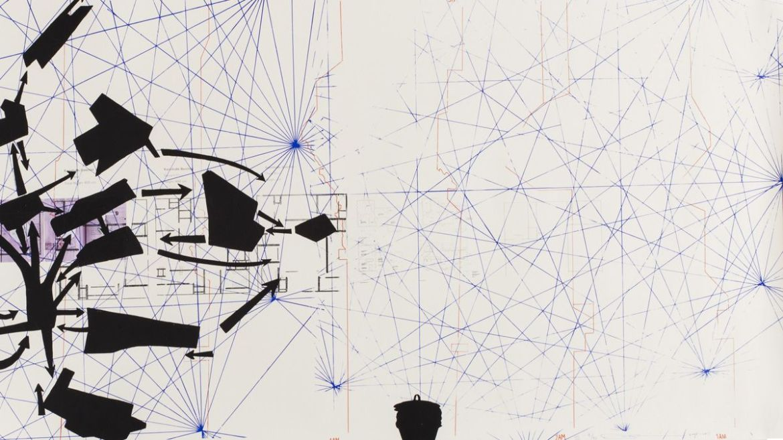 """Untitled 2008-11 (the map of the land of feeling)—III)"" by Rirkirt Tiravanija."