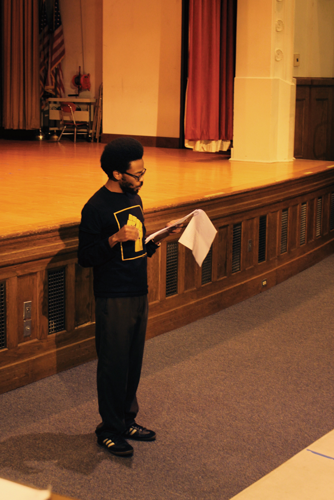 Poets recite spoken word at the launch of Ithaca's Black Lives Matter movement Wednesday.