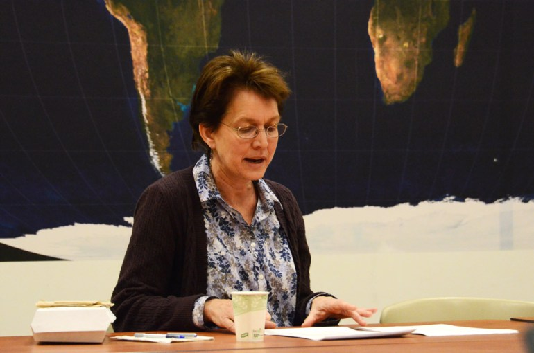 Nancy W. Gallagher discusses the historical precedent for arms control at a talk Thursday