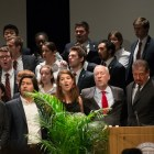 Cornellians celebrate the life and achievements of President Elizabeth Garrett at her memorial in Barton Hall Thursday.