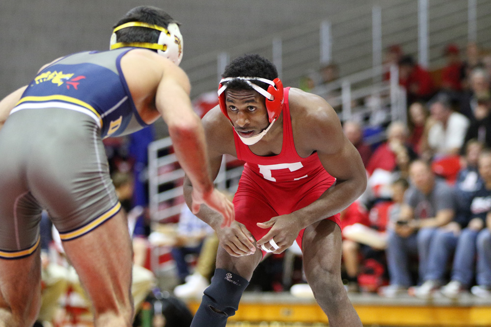 Senior Nahshon Garrett was recently named Ivy League Wrestler of the year. He will compete in the National Championship this weekend.