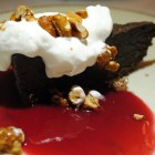 Hazelnut Kitchen's flourless chocolate cake.