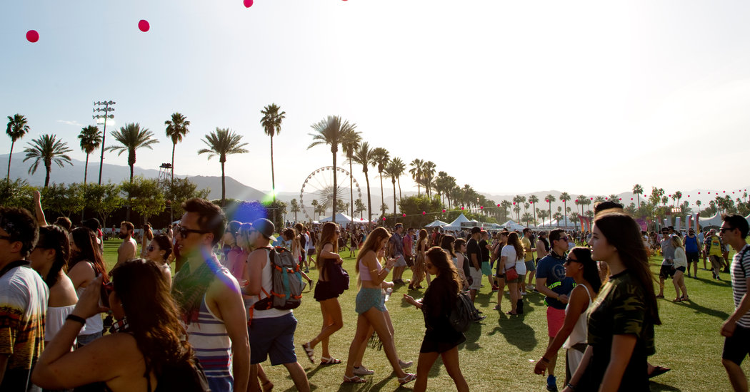 Crowds at the Coachella Music and Arts Festival