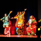 Members of Pao Bhangra, an Indian dance group, perform.