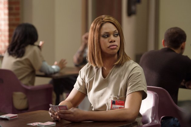 Laverne Cox as Sophia Burset in Orange is the New Black.