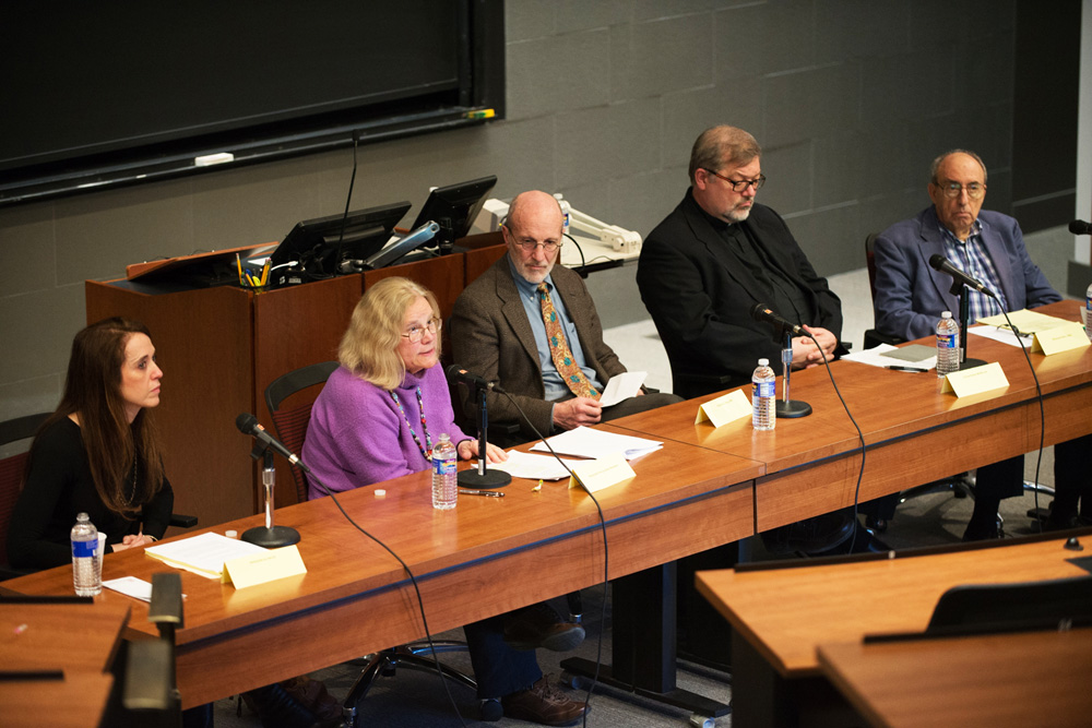 "Panelists share their stances on the pending ""Death with Dignity"" New York State legislature at a discussion last Thursday."