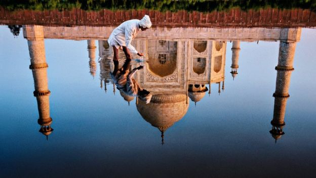 """Reflection of Taj Mahal"""