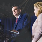 Sen. Ted Cruz announces that he is suspending his presidential campaign at a primary night rally in Indianapolis.