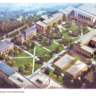 An arial view of the proposed changes to the Ag Quad, which have been in progress this summer.