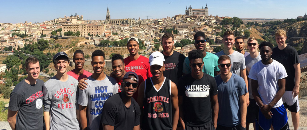 The Cornell men's basketball team traveled to Spain to compete in three games.