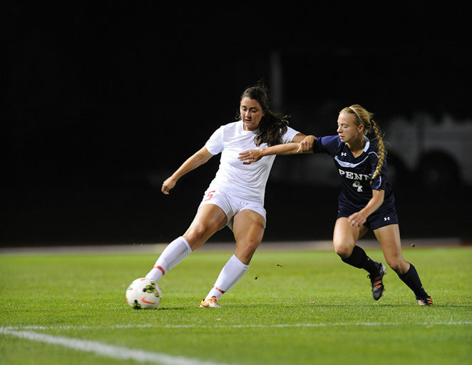 The women's soccer team got off to a positive start after scoring in the first five minutes and playing solid defense for the remaining 85  minutes.