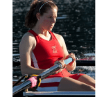 Tracy Eisser '12 and Team USA placed fifth in the quadruple sculls final Thursday.