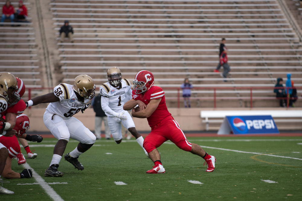 Junior Josh Sweet is one of four running backs that David Archer '05 says will see play time this season