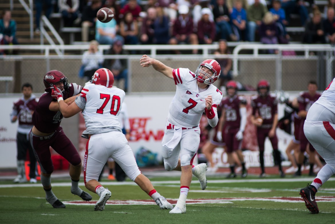Dalton Banks finished Saturday with 454 passing yards, the eighth-highest total in Cornell football history.