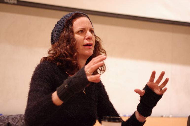"""Alison Tatlock, a writer and producer of several TV shows — including """"Stranger Things"""" — discussed the screenwriting process at at Schwartz Performing Arts Center Monday."""