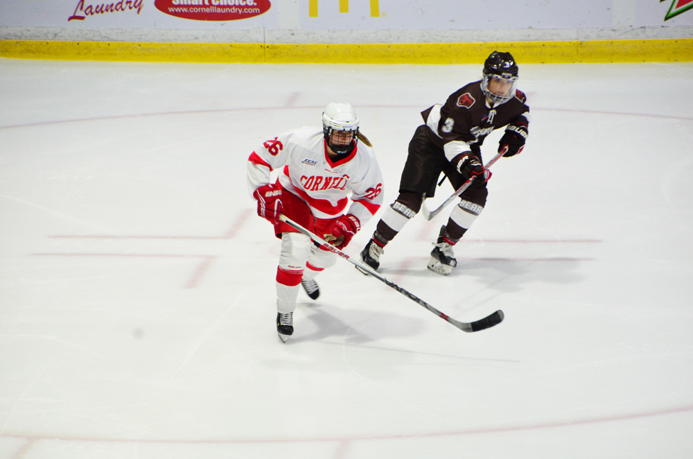 Kaitlin Doering and the Red were knotted with No. 1 Wisconsin at the start of the third period on Friday, but three straight goals sent Cornell to a loss. The Red Red also lost against the Badgers on Saturday.