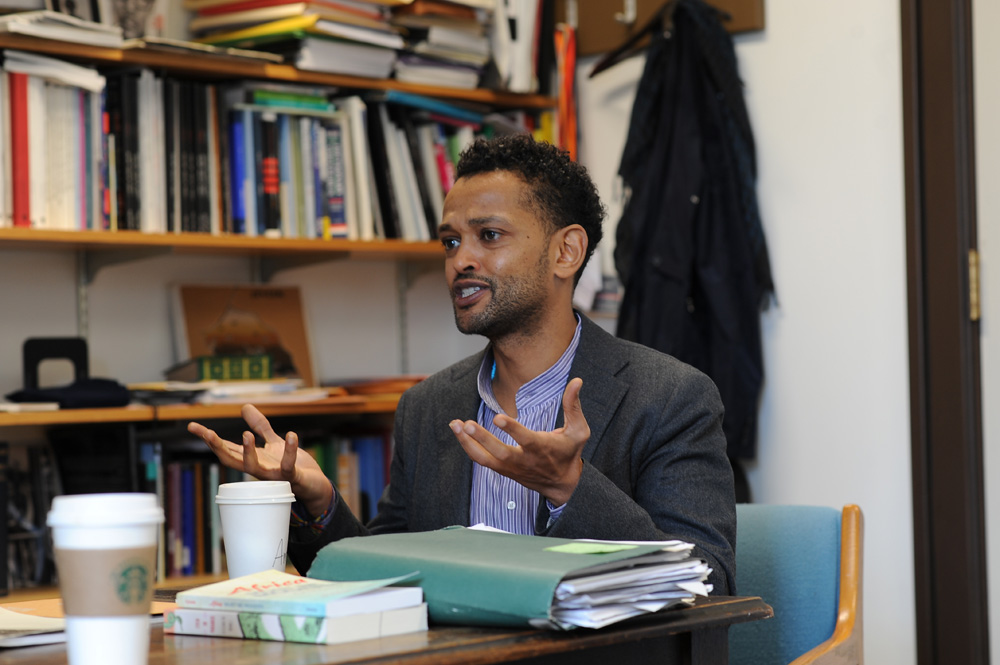 Prof. Dagmawi Woubshet says he tries give his students space to discuss contentious issues in the classroom.