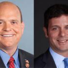 Congressman Tom Reed (left) and Democratic challenger John Plumb (right) are locked in a battle for New York's 23rd district.