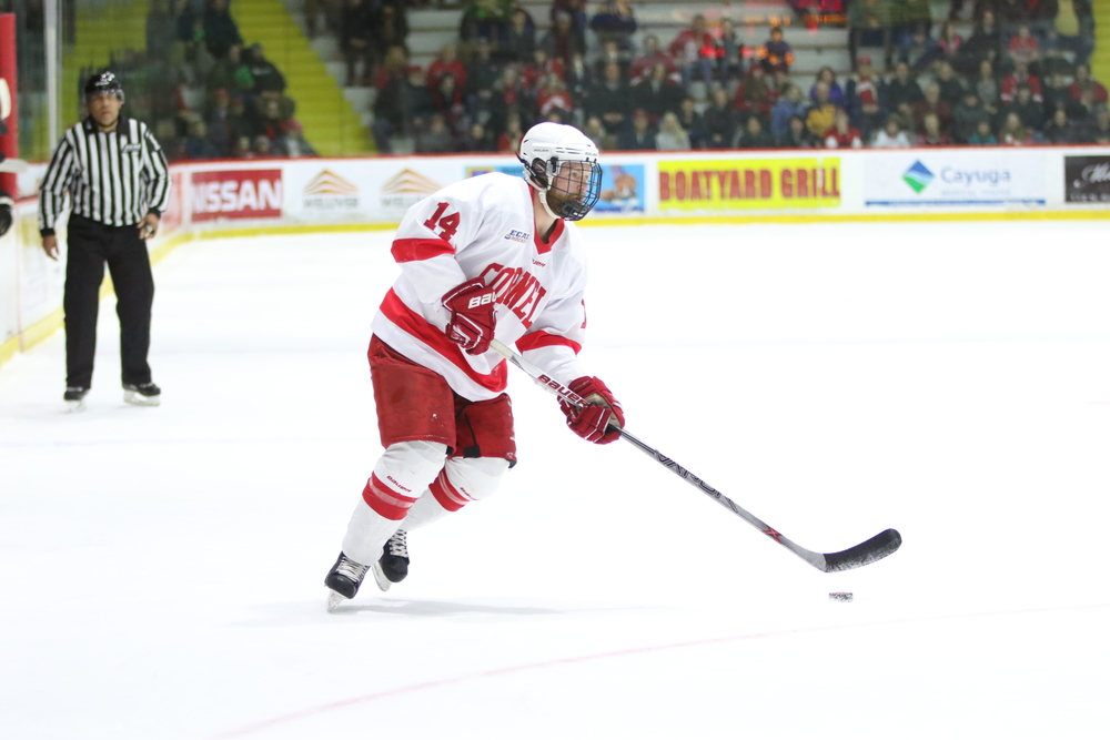 Vanderlaan's play in the second and third periods was critical to the Red's comeback victory.