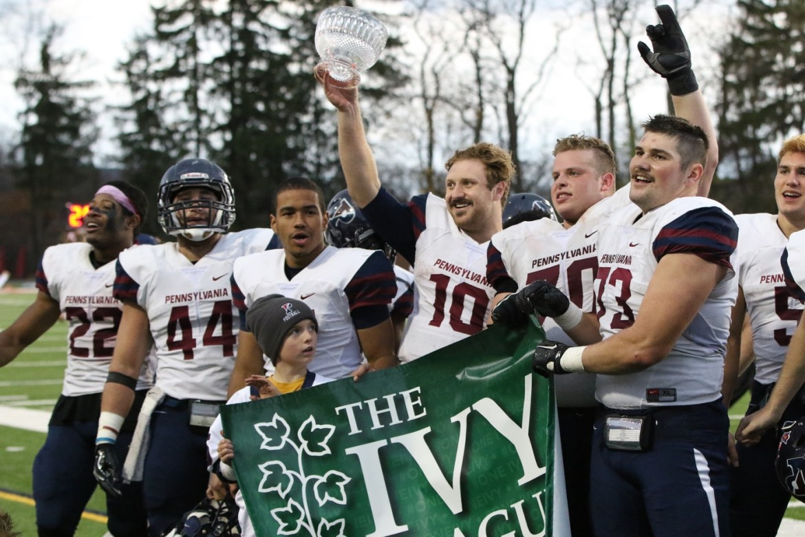 Penn's victory over Cornell in the Trustees Cup assured the Quakers a share of the Ivy League title for the second consecutive year.