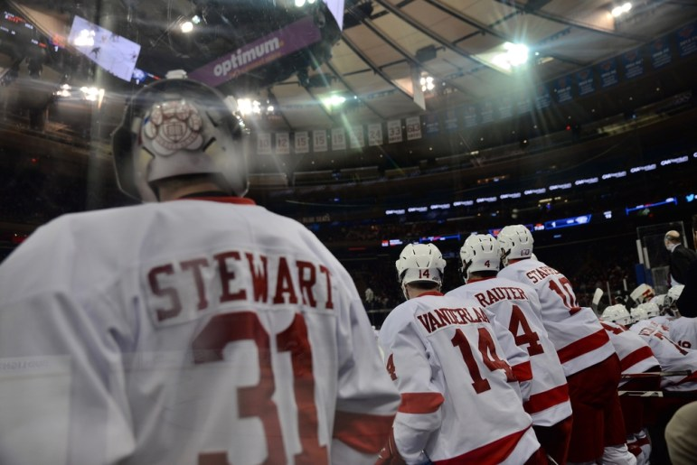 In a game that featured endless excitement, Cornell came out on top to improve to 3-3-2 in games at MSG.