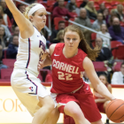 Kerri Moran, one of the five senior starters on the squad, scored 13 points in the Red's win over Colgate.