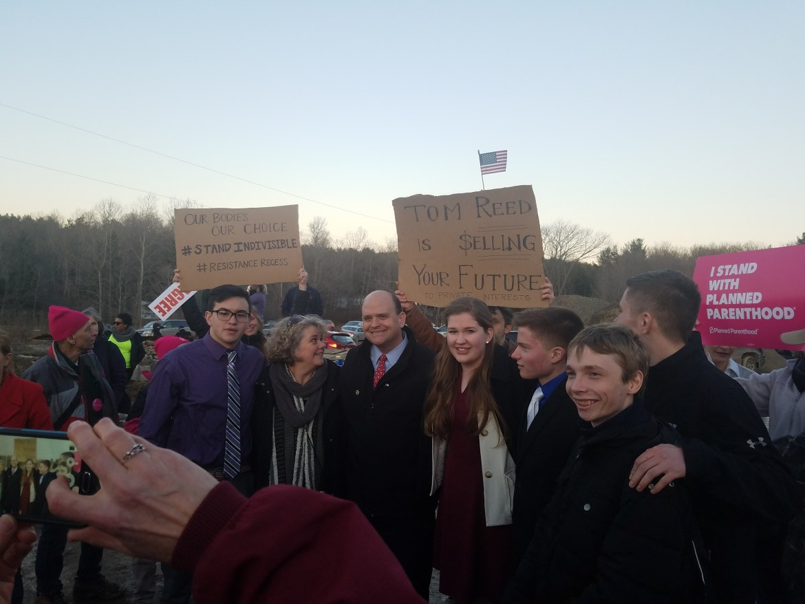 Cornell students attend Reed's controversial town hall meeting on Saturday.
