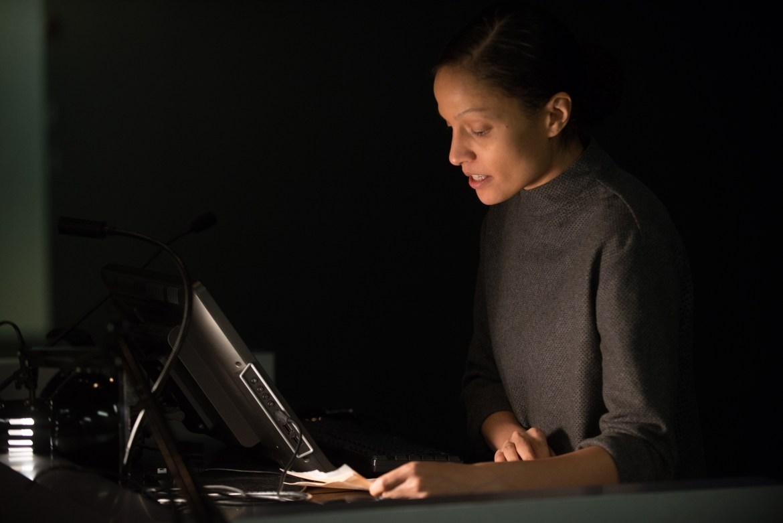 Artist Jessica Vaughn lectures in Milstein Auditorium.