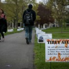 Tibet posters on Arts Quad on May 9, 2017.