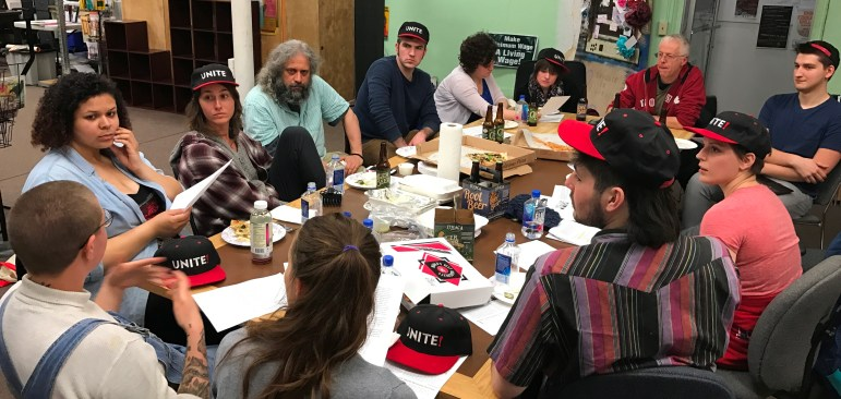 Gimme baristas regularly met at the Tompkins County Workers' Center, above, to discuss unionization in 2017.