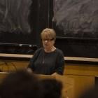 Holocaust Survivor Irene Zisblatt speaks for Cornell Hillel.