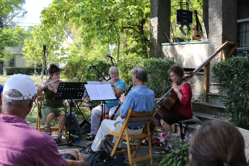 Music's Recreation takes to the sidewalk.