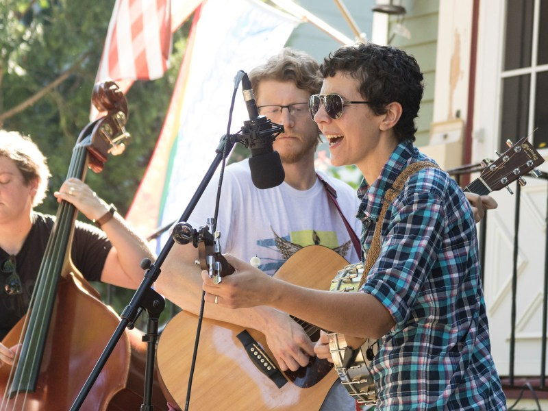 Porchfest featured several artists performing in the Fall Creek and Northside neighborhoods.