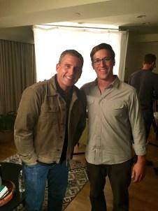 Steve Carell and Josh Greenbaum '01