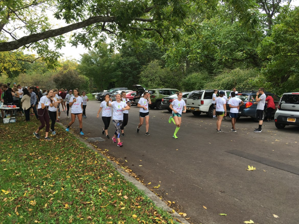 Participants raced in a loop in the Cornell Botanic Gardens at the annual SToPP 5k this Saturday.