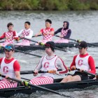 Men's rowing at the Schwartz Cup on Cayuga Lake on Saturday, Sept. 30.