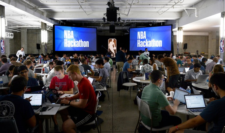 Students partake in an NBA hackathon from Sept. 23-24 in New York City. 207 participants were selected from over 900 applicants.