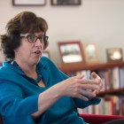 Cornell President Martha Pollack speaks to the Sun on Thursday in her office in Day Hall.