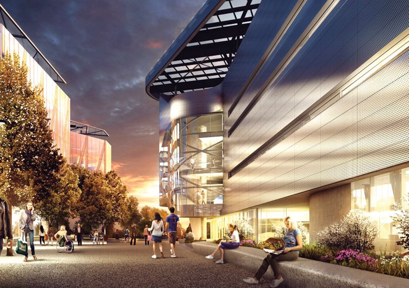 Cornell Tech's Roosevelt Island campus, as depicted in this rendering, has a partnership with Technion Israeli Institute of Technology, which a student-led pro-Palestinian group is protesting.