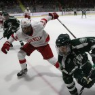The Red bested Dartmouth 3-0 on Friday in Matthew Galajda's second career shutout.