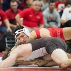 No. 6 Ben Darmstadt (197) had two bonus point victories over the weekend, and is part of the talented freshman class driving the Red's success this season.