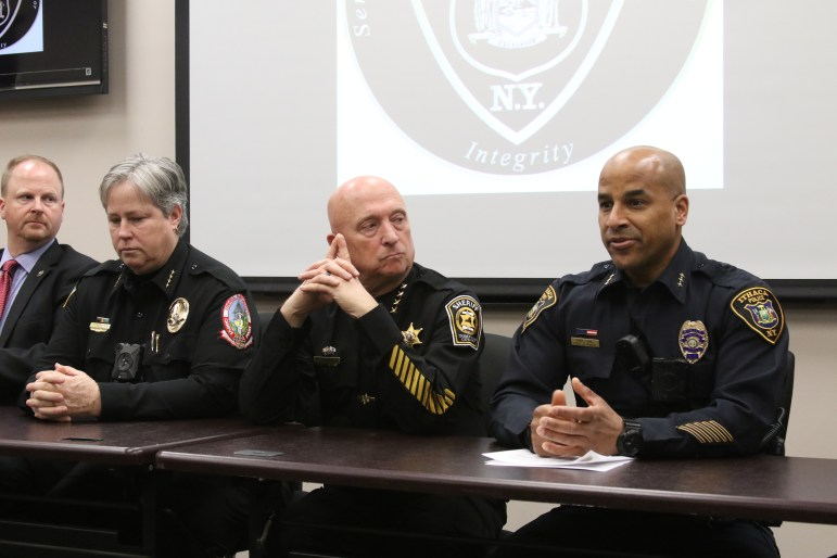 Police Press Conference at Ithaca Police HQ on Saturday, January 27, 2018
