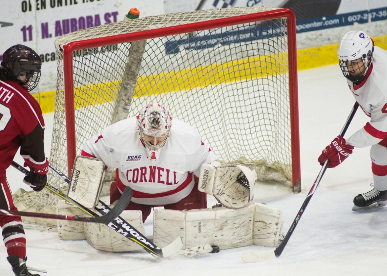 Junior goaltender Marlene Boissonnault earned her fourth shutout of the season Tuesday.