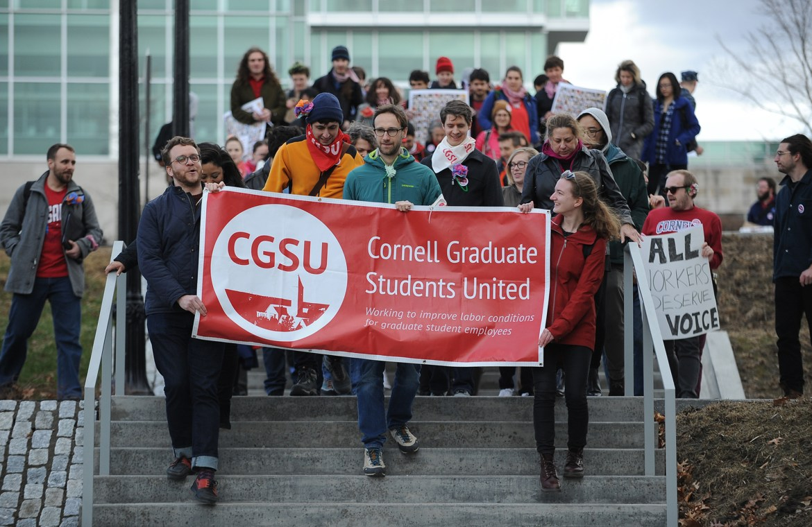 Last year, CGSU demanded an election for the unionization of graduate students.